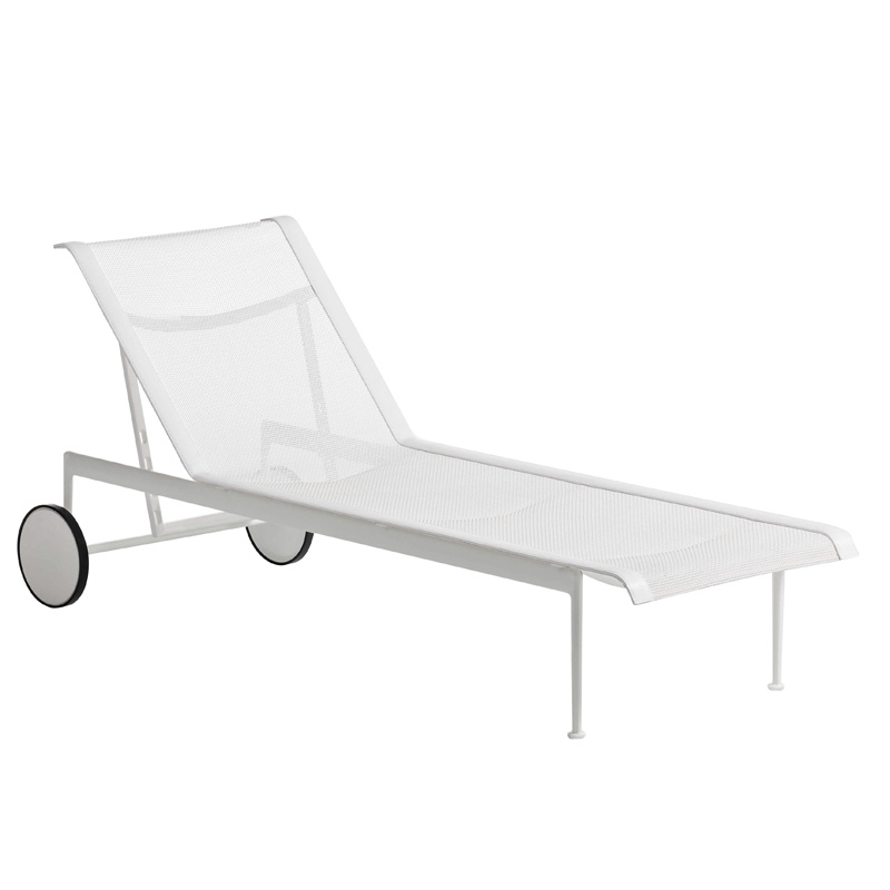knoll 1966 adjustable chaise longue white. Black Bedroom Furniture Sets. Home Design Ideas
