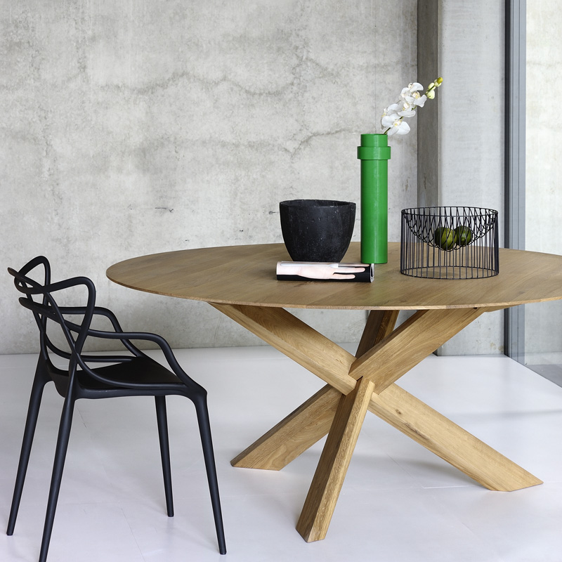 ethnicraft oak circle dining table select this fabric