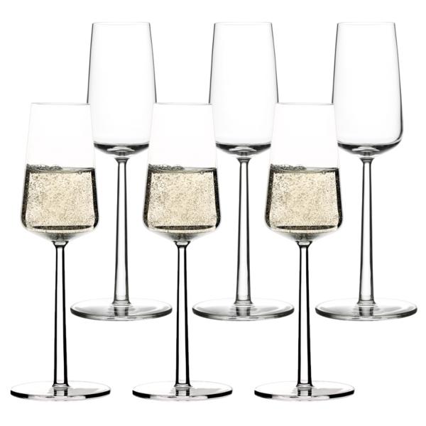iittala essence champagne glasses x2 21cl. Black Bedroom Furniture Sets. Home Design Ideas