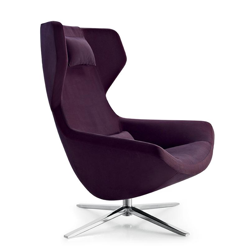 B b italia mp100ap metropolitan 39 14 swivel armchair with for Poltrone a basso costo