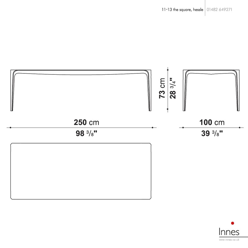 B b italia tlk250n link dining table 250cm - B b italia link table ...