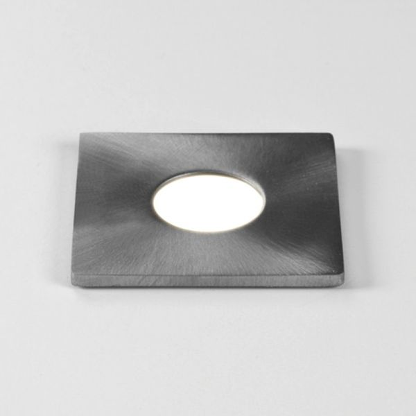 Astro Terra 28 Square Exterior Ground LED Light (Driver Excluded) IP65 Brushed Steel