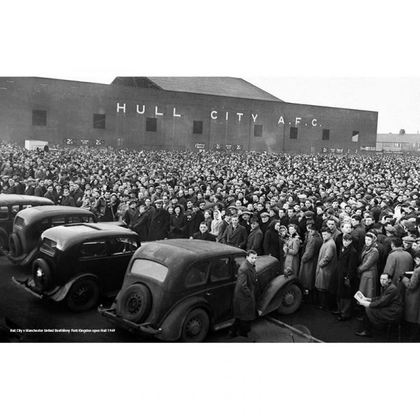 A488 Hull City v Manchester United Crowds 1949 60x38 Canvas Print