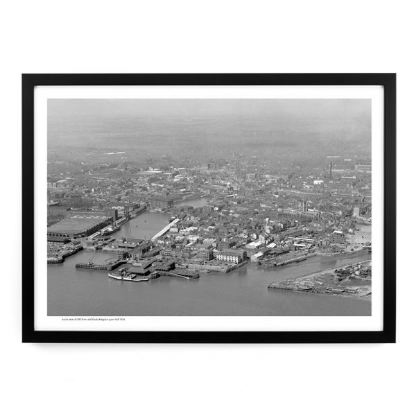 Aerial View Of Old Town & Docks 1954