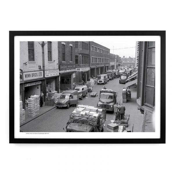 A512 Humber Street Fruit Market 1955 A3 Framed Art Print