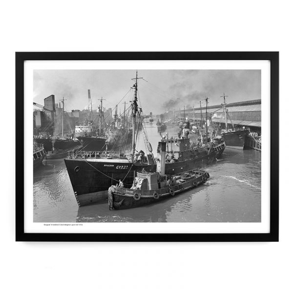 'Dragoon' St Andrew's Dock 1956 - A3 Framed Art Print