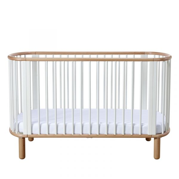 Flexa Baby Cot Bed White/Clear Lacquer