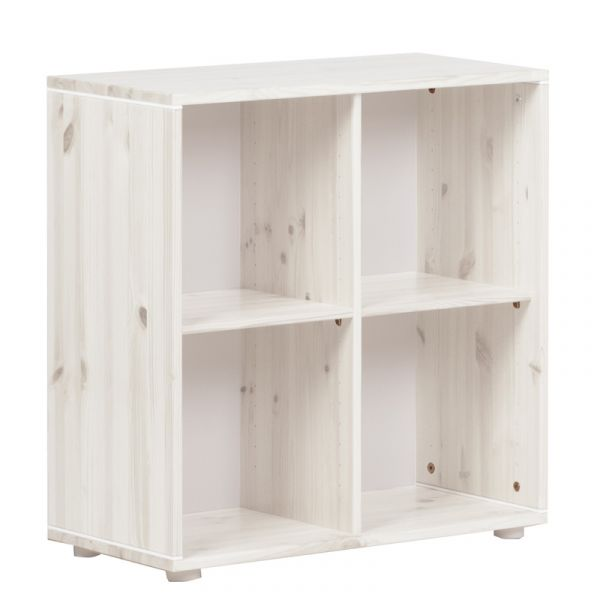 Flexa Classic Bookcase 4 Compartments Whitewashed White