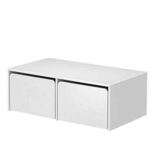Flexa Cabby Low Storage Unit 2 Boxes Castors
