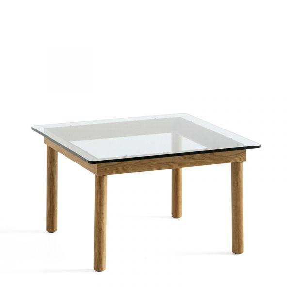 Hay Kofi Coffee Table 60x60cm WB Lacquer Oak Frame Clear Glass Top