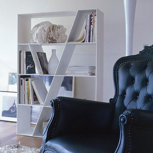 B&B Italia SL96 Shelf Bookcase 145Hx96Wx37Dcm White Corian