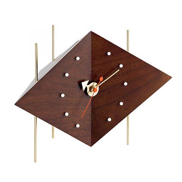 Vitra Diamond Desk Clock Walnut