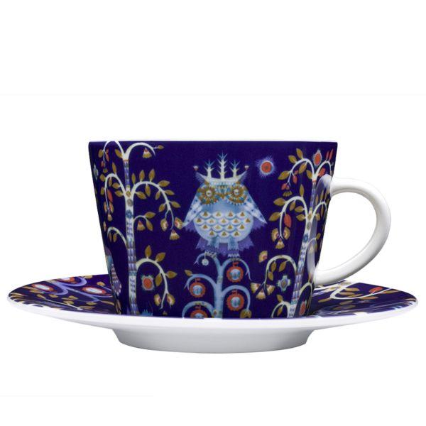 iittala Taika Cappuccino Cup And Saucer Set of Six Blue