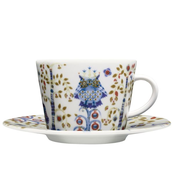 iittala Taika Cappuccino Cup And Saucer Set Of Six White