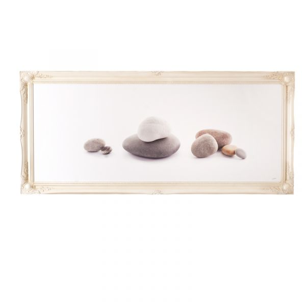 Contemporary Stone Arrangement - Framed Canvas Print
