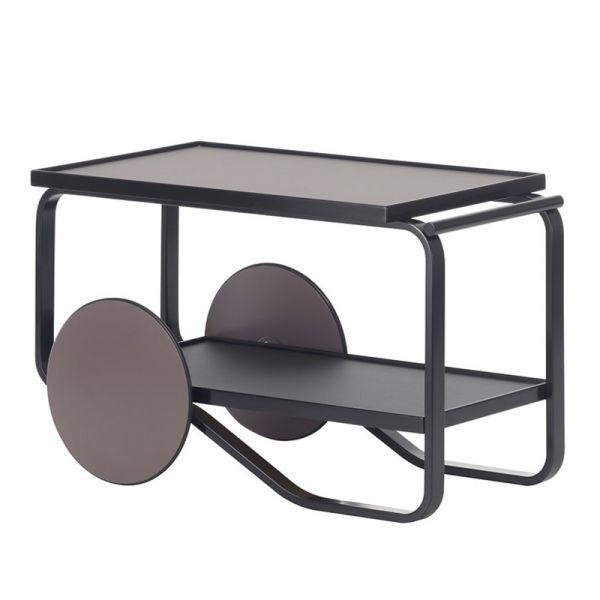 Artek 901 Tea Trolley Black Lacquered