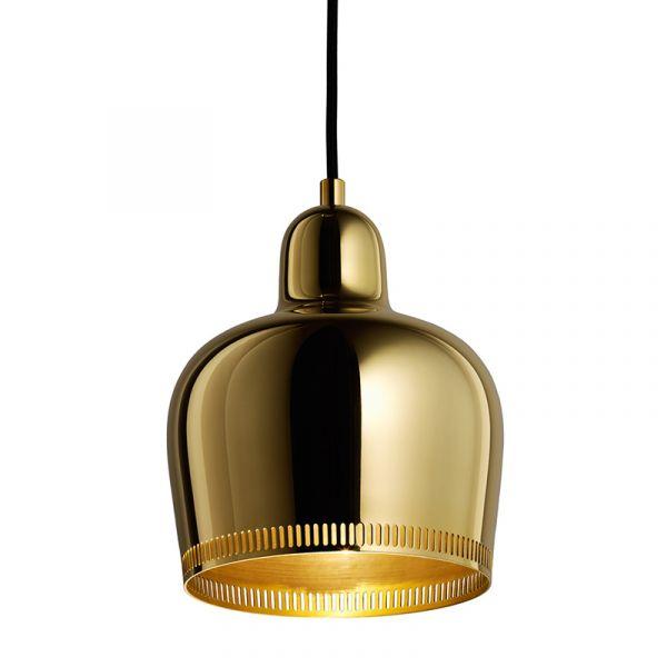 Artek A330S Golden Bell Savoy Pendant Light Shade PolishedUnvarnished Brass (Inside Raw)