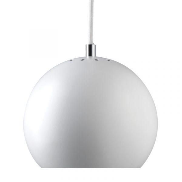 Frandsen Ball Pendant Light White Matt (White Inside)