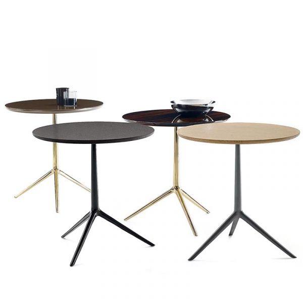 B&B Italia TCZ60 Cozy Round Small Table Brass Frame