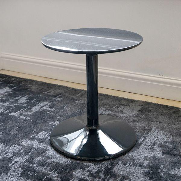 B&B Italia TSP40 Spool Small Table D40cm x H44.5cm Black Gloss Ex-Display was £970 now £695