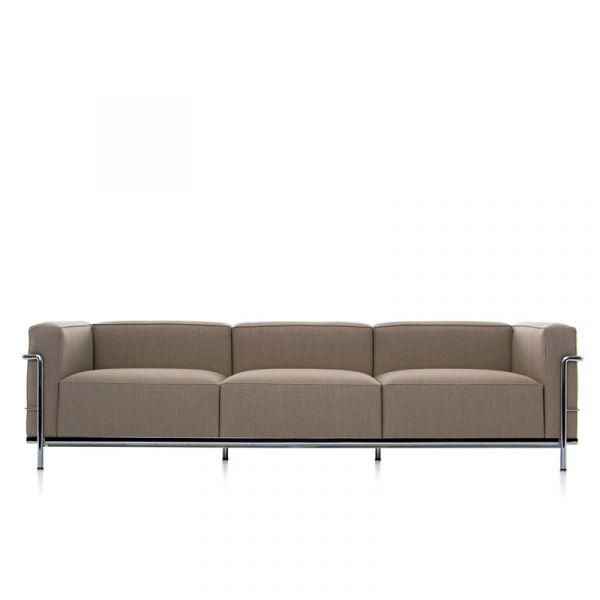 Cassina LC3 Le Corbusier 3 Seat Sofa