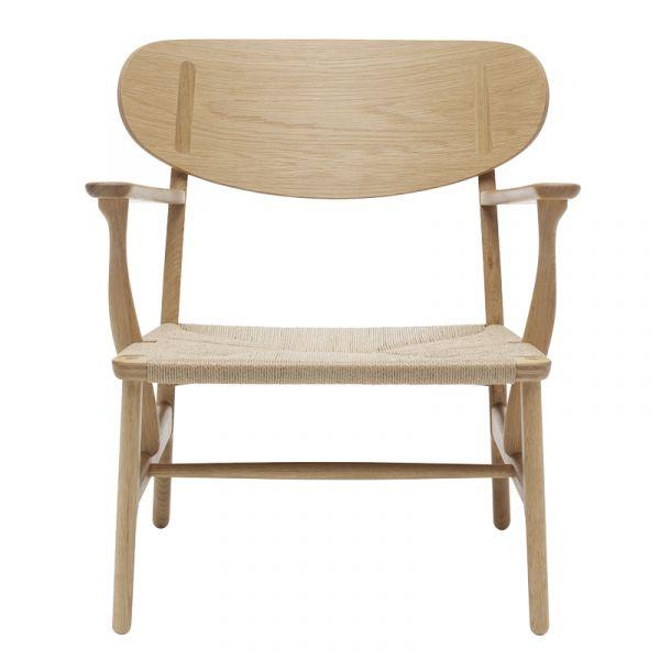 Carl Hansen CH22 Lounge Chair Natural Paper Cord