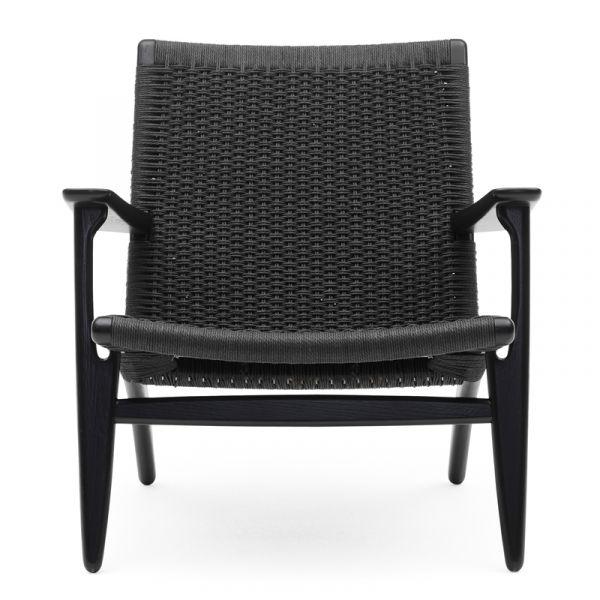 Carl Hansen CH25 Easy Chair Black Papercord