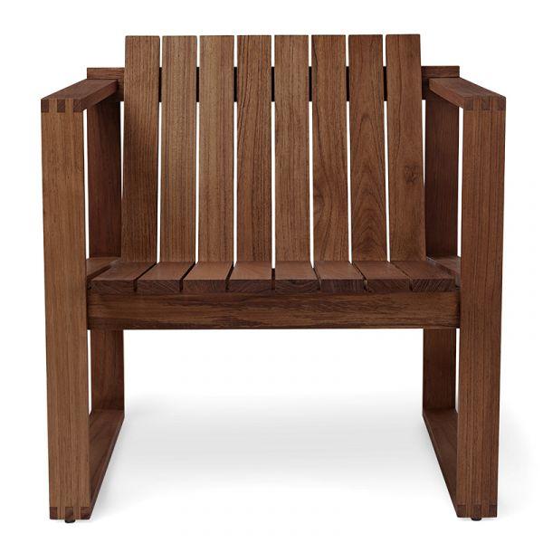Carl Hansen BK11 Outdoor Lounge Chair Teak Oiled No Cushions