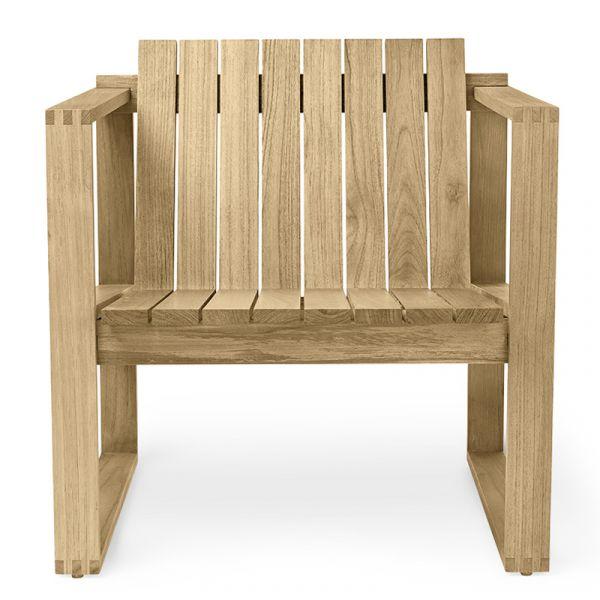 Carl Hansen BK11 Outdoor Lounge Chair Teak Untreated