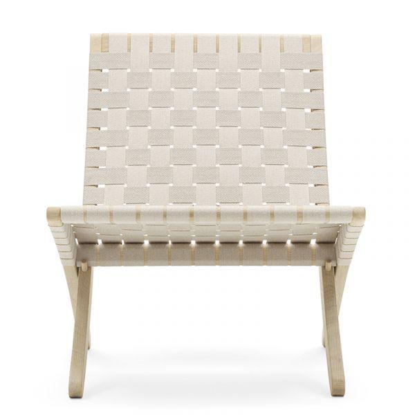 Carl Hansen MG501 Cuba Lounge Chair Oak Soap Natural Webbing