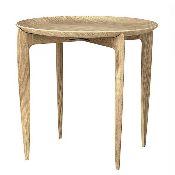Fritz Hansen Foldable Tray Table Oiled Oak D45cmxH42cm