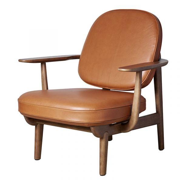 Fritz Hansen JH97 Fred Lounge Chair Walnut Stained Oak