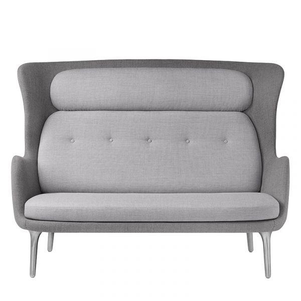 Fritz Hansen JH110 Ro Sofa Brushed Aluminium Legs