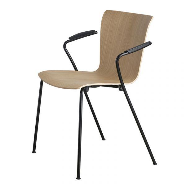 Fritz Hansen VM111 Vico Duo Chair Black Powder Coated Base