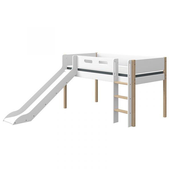 Flexa Nor Mid-High Bed Straight Ladder & Slide