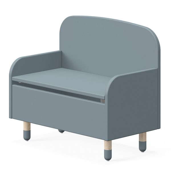Flexa Dots Storage Bench With Backrest Light Blue