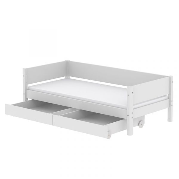 Flexa White Daybed With x2 Drawers