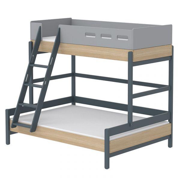 Flexa Popsicle Euro Family Bed Slanting Ladder Blueberry