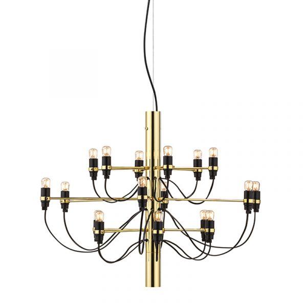 Flos 2097/18 Chandelier Suspension Light Brass