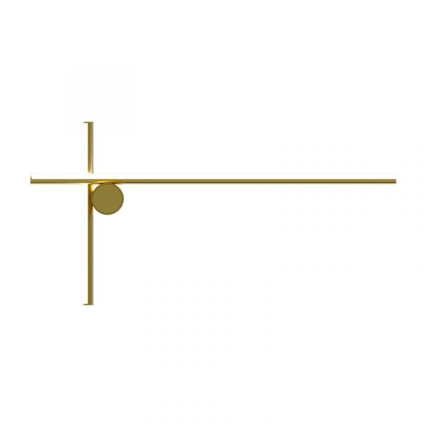 Flos Coordinates W2 Wall Light Anodized Champagne