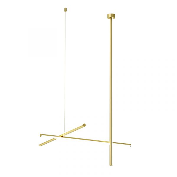 Flos Coordinates C1 CL III Ceiling Light Anodized Champagne