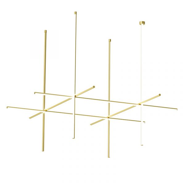 Flos Coordinates C4 Long CL III Ceiling Light Anodized Champagne