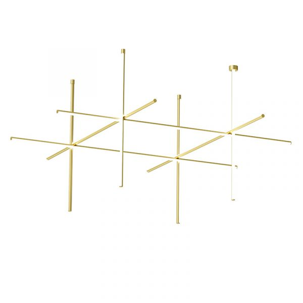 Flos Coordinates C4 CL III Ceiling Light Anodized Champagne