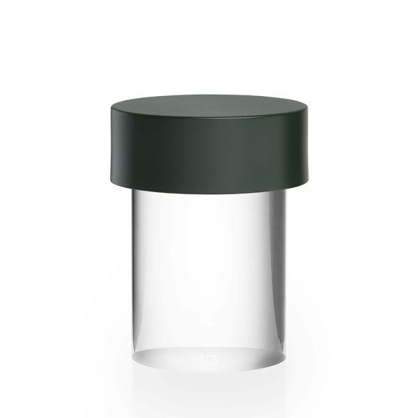Flos Last Order Table Lamp Clear Glass Matt Green