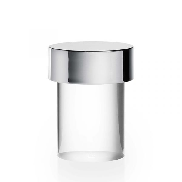 Flos Last Order Table Lamp Clear Glass Polished Stainles Steel