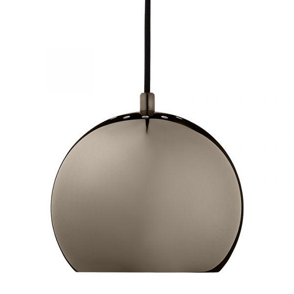 Frandsen Ball Pendant Light Black Chrome