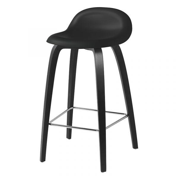 Gubi 3D Counter Stool Unupholstered H65cm Wood Base