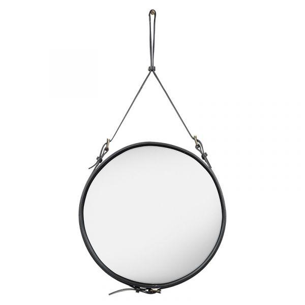 Gubi Adnet Circular Wall Mirror 58cm Black Leather