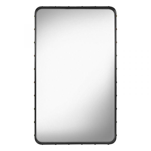 Gubi Adnet Rectangular Wall Mirror 70x115cm Black Leather