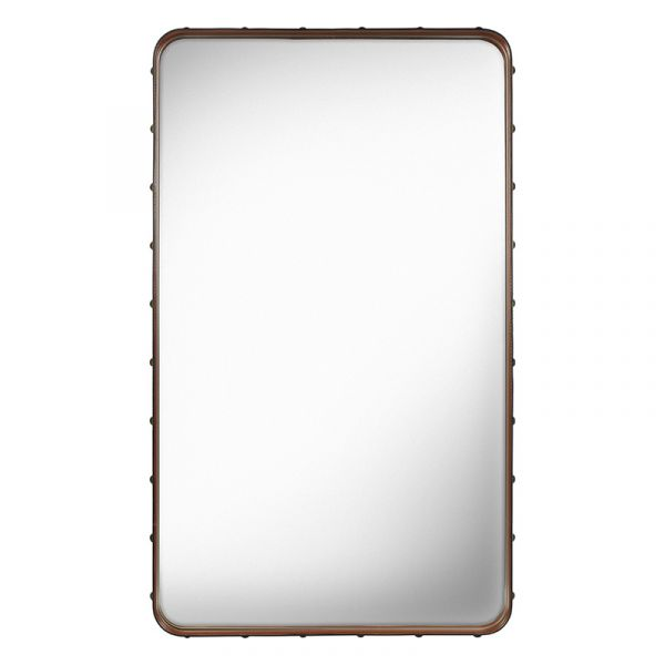 Gubi Adnet Rectangular Wall Mirror 70x115cm Tan Leather